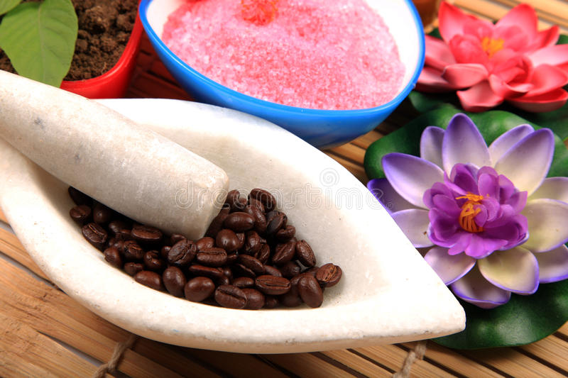 Coffee spa stock images