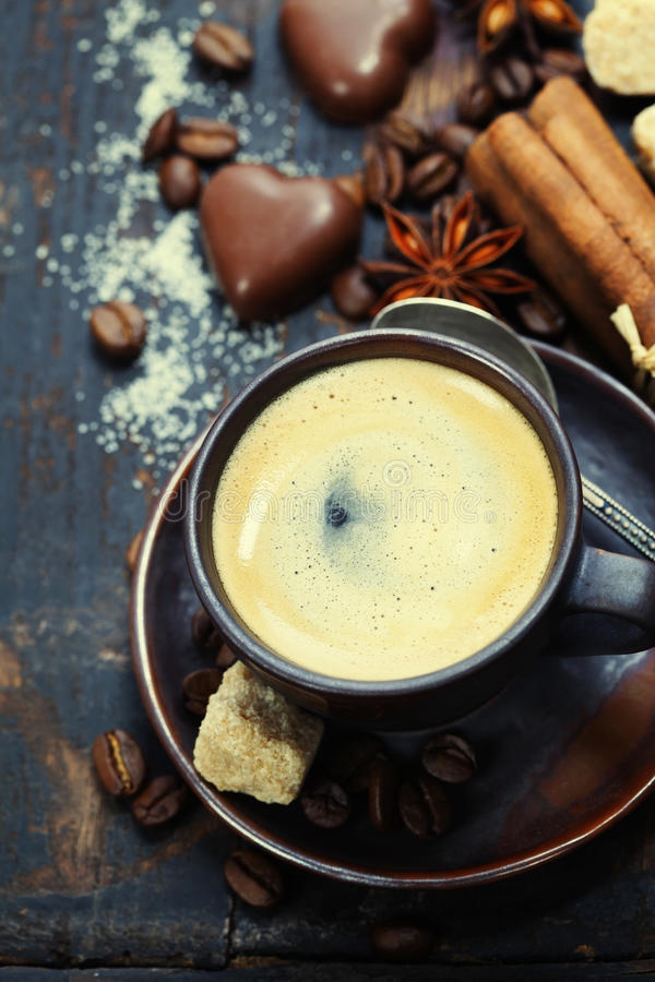 Coffee and spices royalty free stock photo