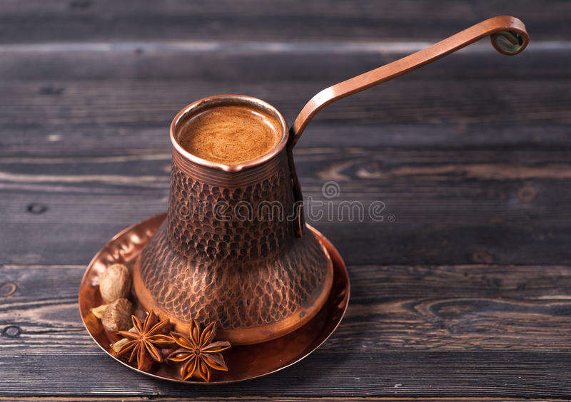 Coffee and spices royalty free stock images