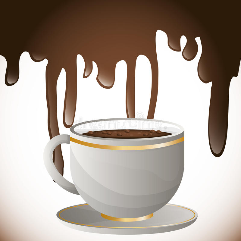 Coffee splash design royalty free illustration