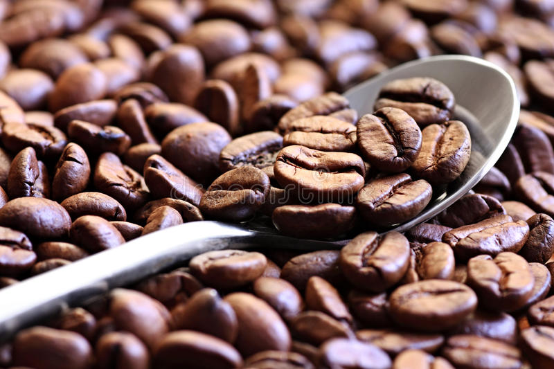 Download Coffee on the spoon stock image. Image of arabica, spoon - 25791003