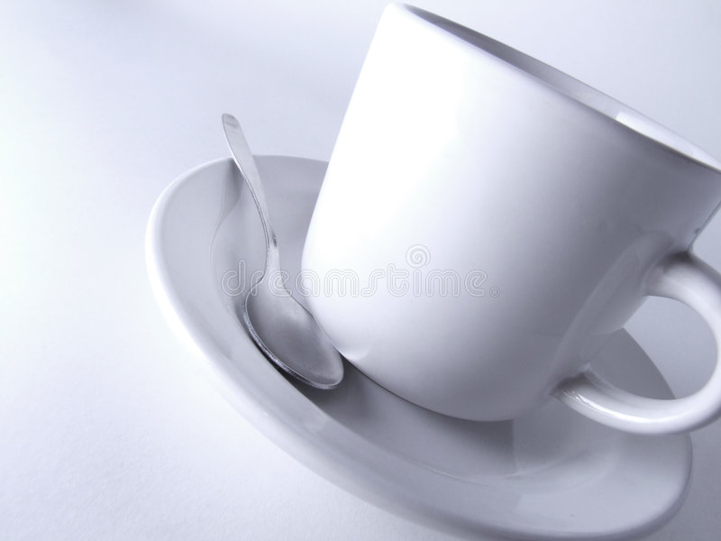 Coffee and spoon royalty free stock image