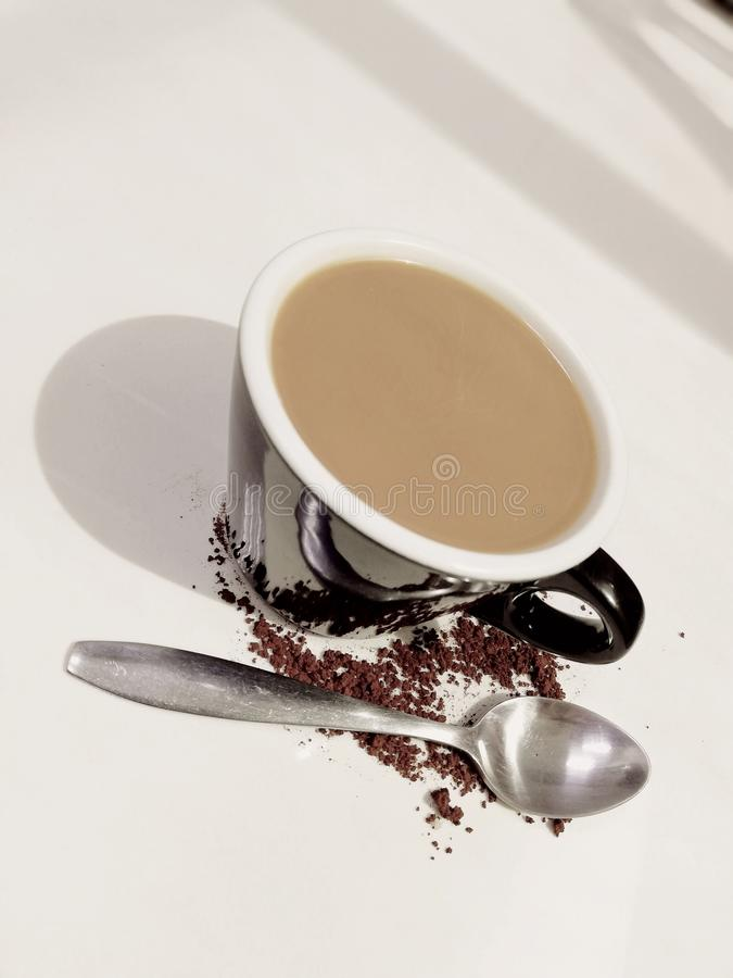 coffee and spoon stock image