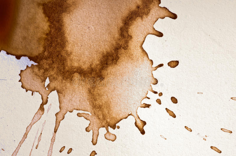 Coffee stain stock image