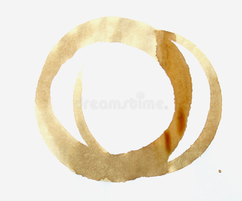 Coffee stain. Rings made by coffe stain