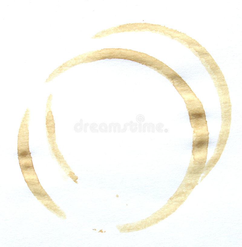 Coffee Stain Royalty Free Stock Photography