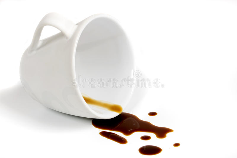Download Coffee stain stock photo. Image of stain, white, spill - 9752252