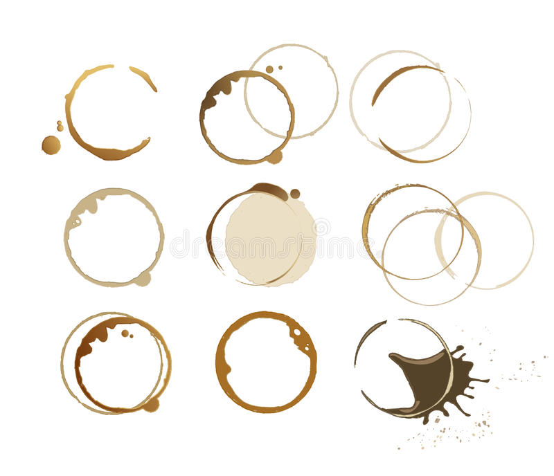 Coffee stains royalty free illustration