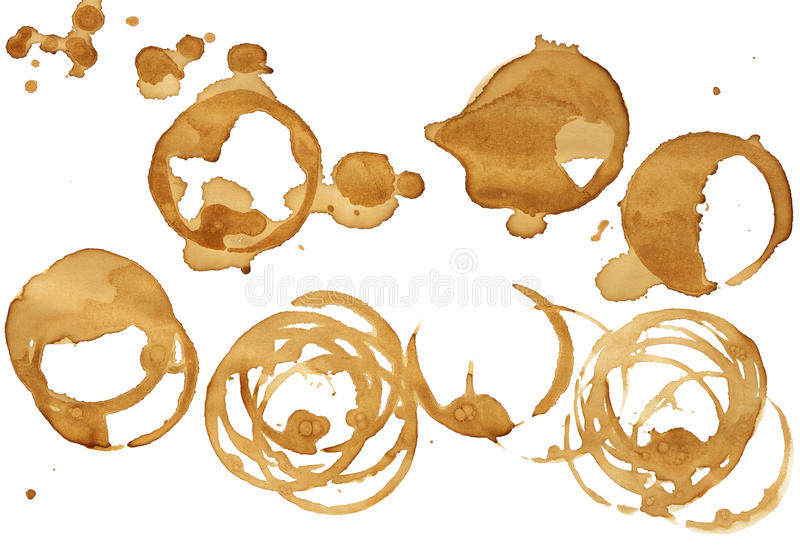 Coffee stains stock illustration