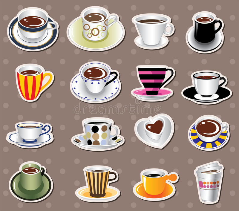 Download coffee stickers stock vector illustration of chocolate 24617293