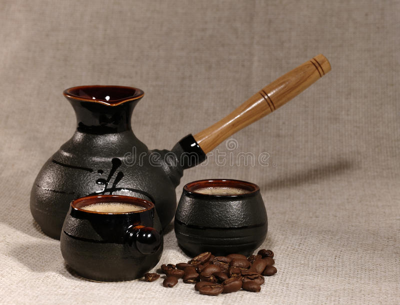 Coffee still life stock images