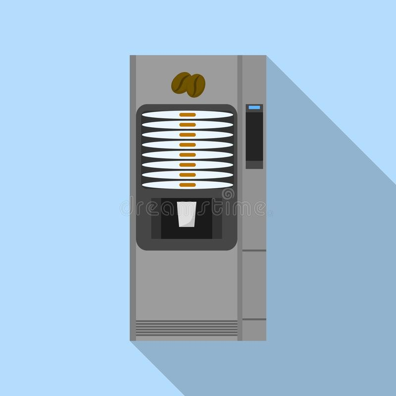Coffee street machine icon, flat style stock illustration