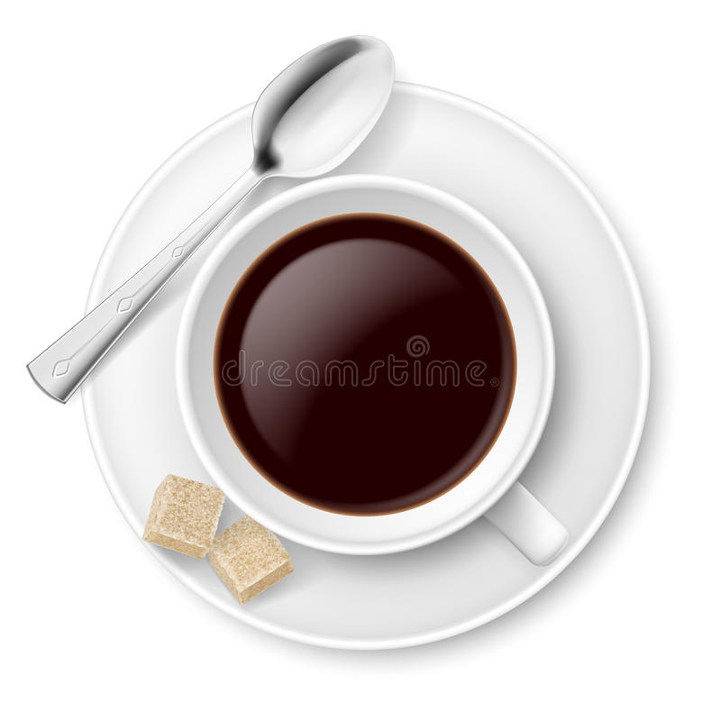 Coffee With Sugar Stock Photo
