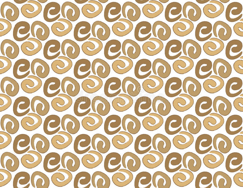 Coffee swirls textile pattern stock illustration