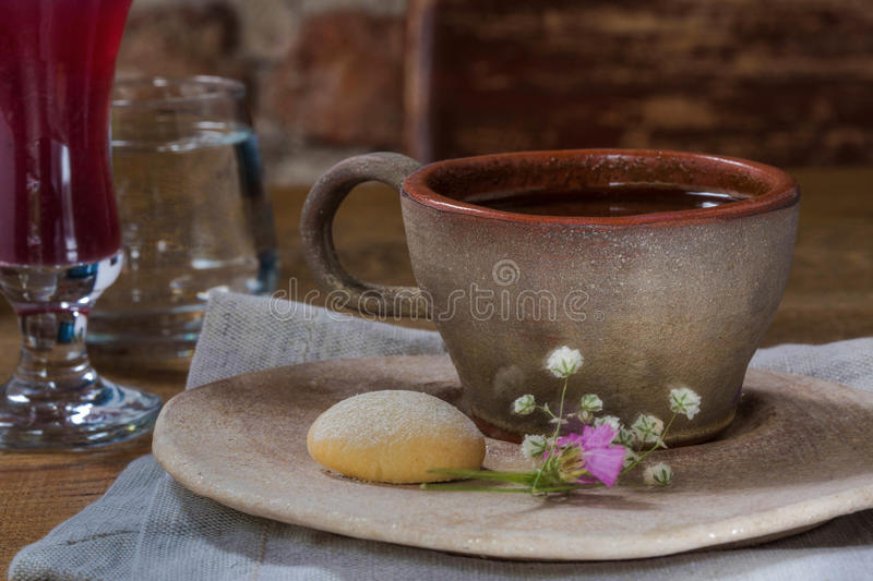 Coffee table royalty free stock photo