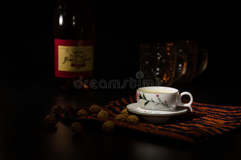 Coffee tableware royalty free stock photography