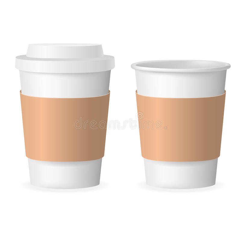coffee takeaway cup with cover 3d realistic mockup transparent