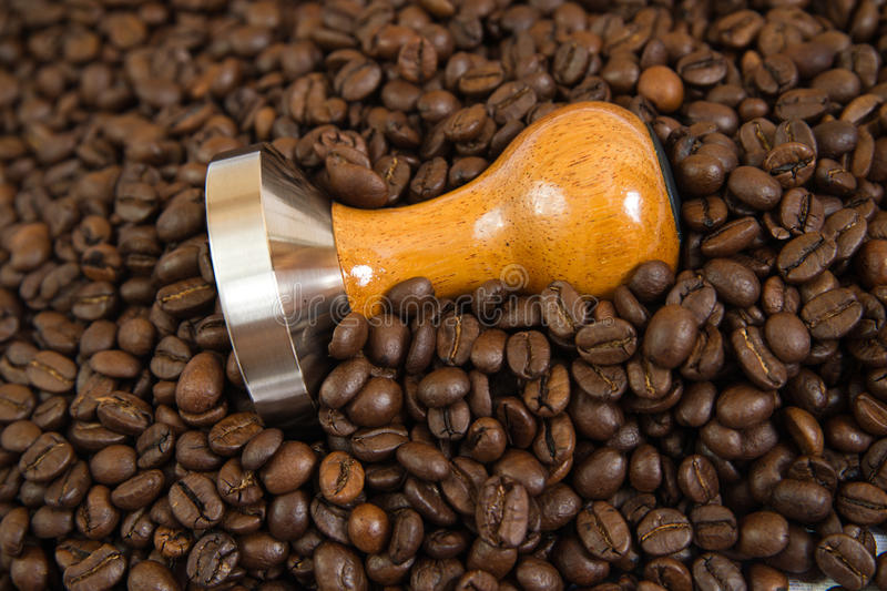 Download Coffee And Tamper Background Royalty Free Stock Images - Image: 27058189