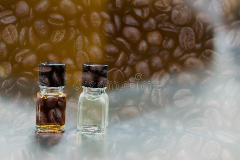 Coffee tasting with reference flavor. aroma perception in coffee. Coffee tasting with reference flavor. art of aroma perception in coffee. bottle of fragrance stock photography