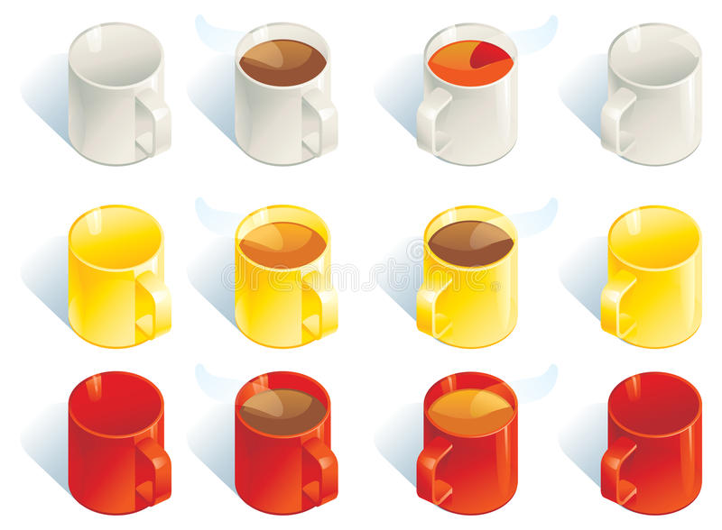 Download Coffee and tea stock vector. Image of white, clip, yellow - 28512321