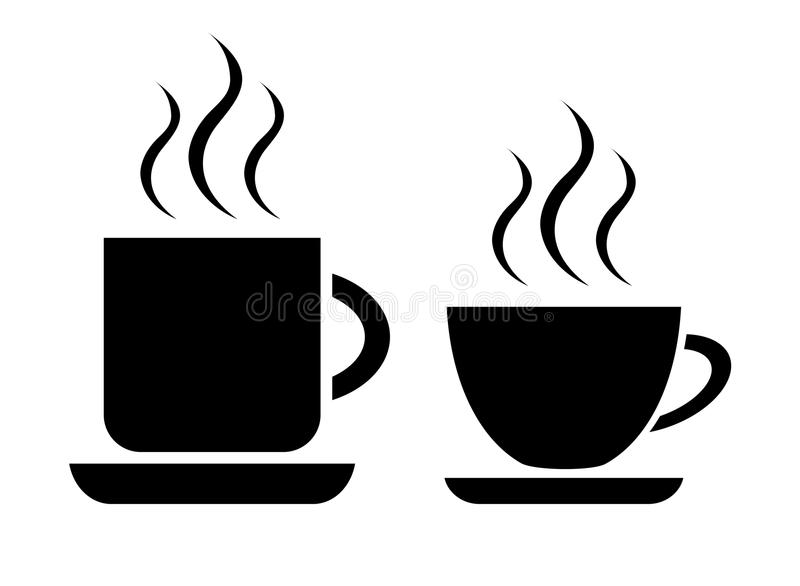 Coffee and tea cup royalty free illustration