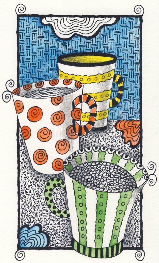 Coffee or tea? stock illustration