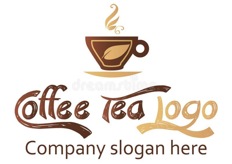 Coffee and tea logo design stock photography