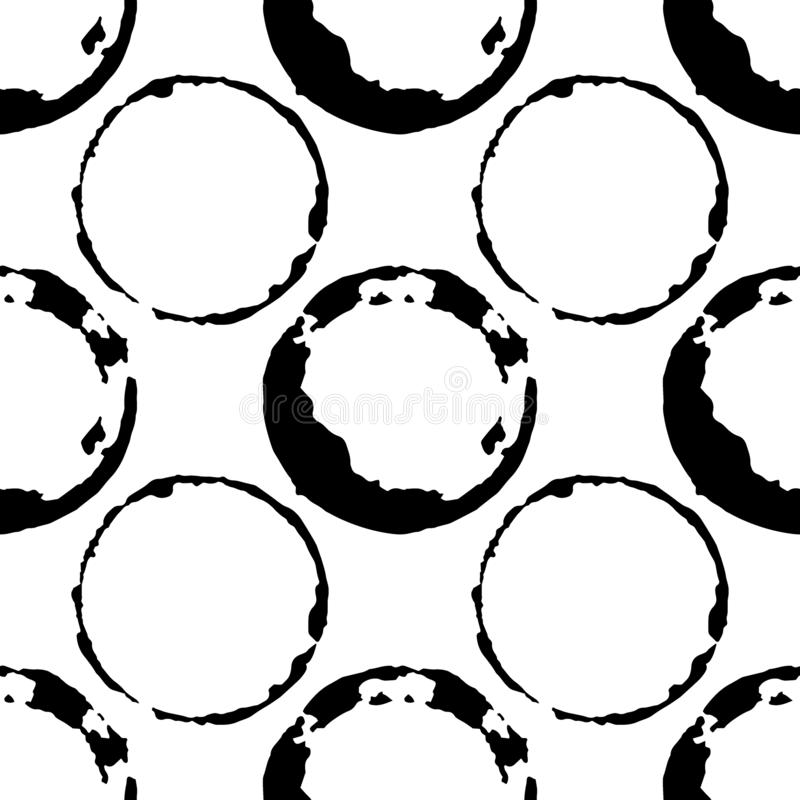 Coffee or tea stains seamless pattern. Splashes of cups and mugs background stock photo