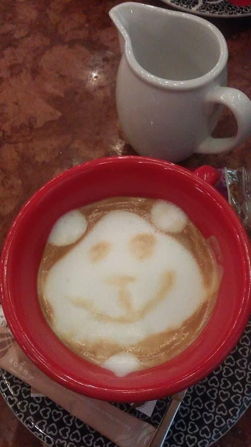 Coffee teddy bear royalty free stock photos