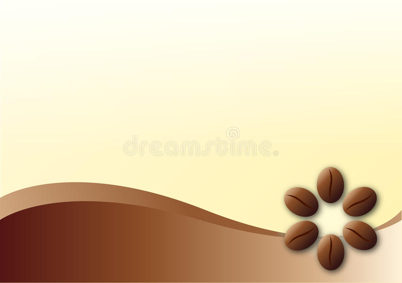 Coffee template background. Vector coffee template background with coffee brown beans theme and blank white yellowspace for your company text, logo... You can