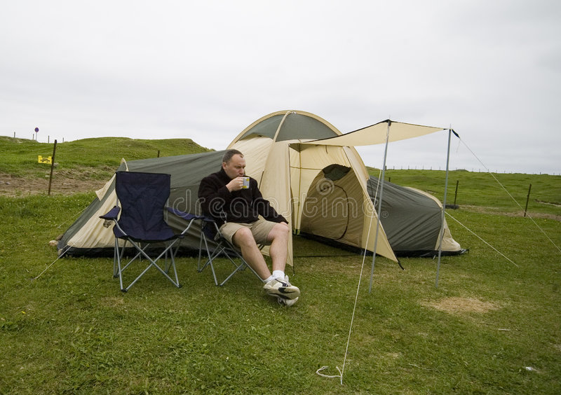 Download Coffee and tent. stock photo. Image of alone, norwegian - 2990442
