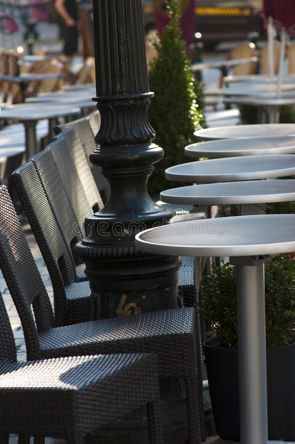 Download Coffee Terrace With Tables And Chairs Stock Photo - Image: 24341424