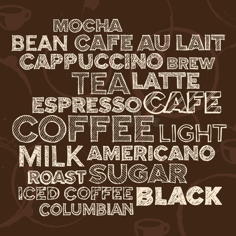 Coffee text elements vector illustration