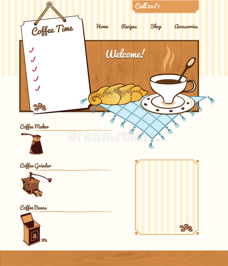 Free Coffee Theme For Website Royalty Free Stock Image - 42862326