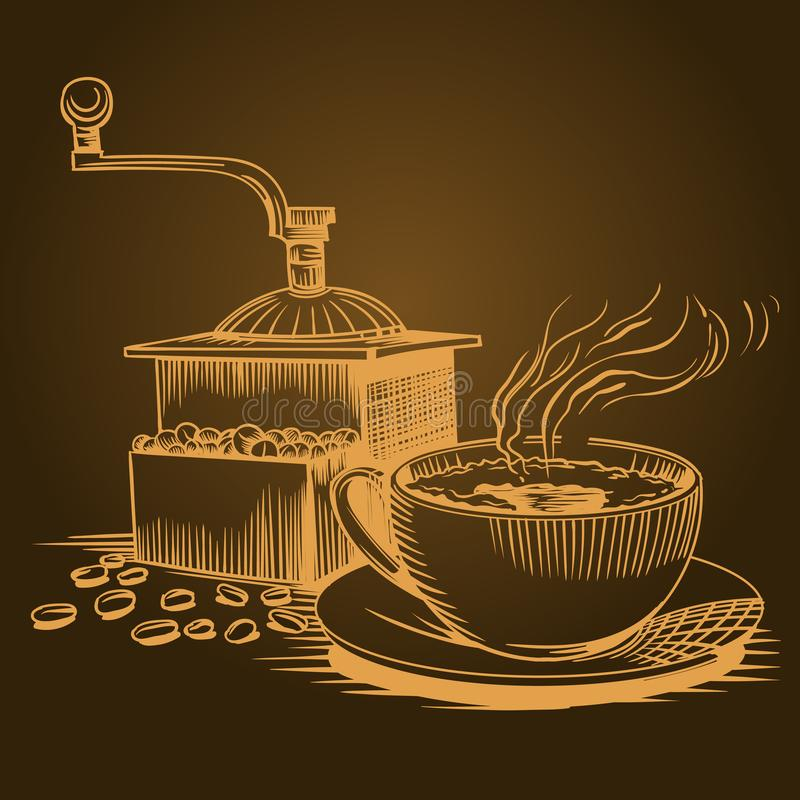 Free Coffee Theme, Sketch Pictures Royalty Free Stock Images - 122512549
