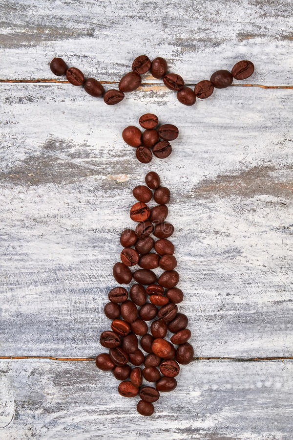 Coffee tie isolated. royalty free stock photo