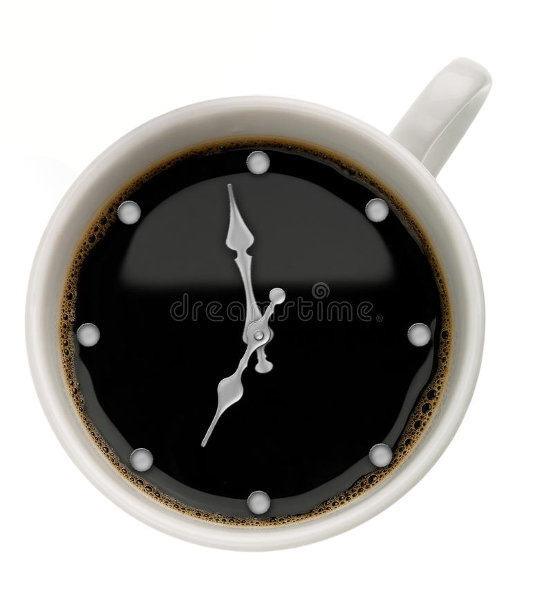 Coffee Time. Abstract food backgrounds over white royalty free stock photo