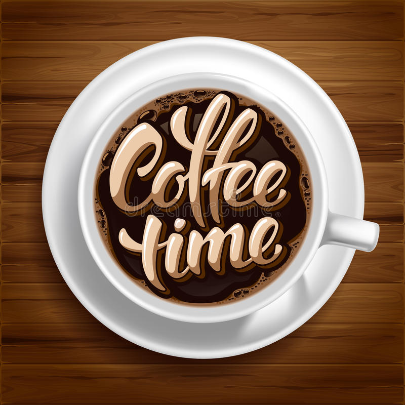 Coffee Time Concept stock illustration