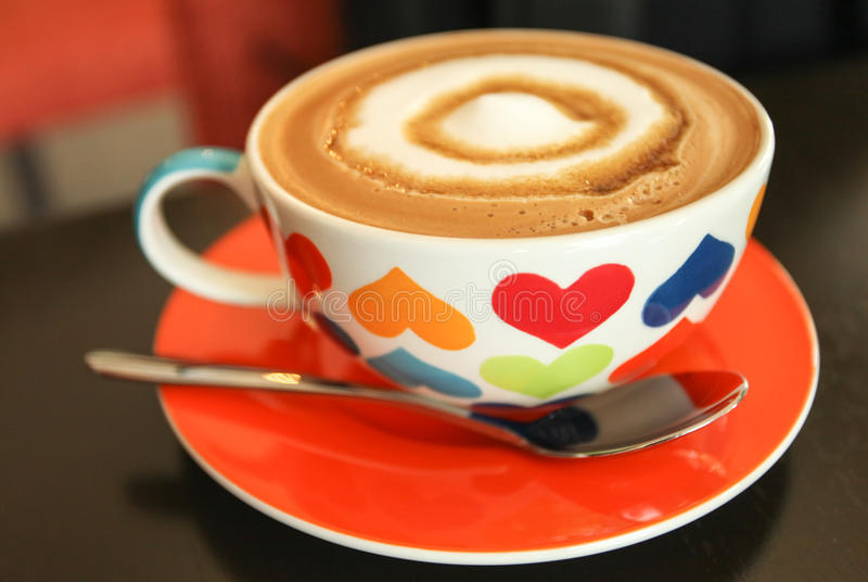 Coffee time. Delicious coffee with love cup royalty free stock image