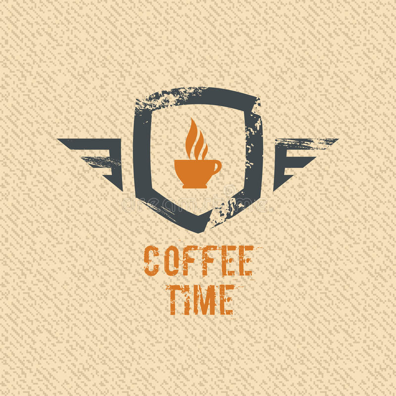 Free Coffee Time Label Stock Photography - 28654862