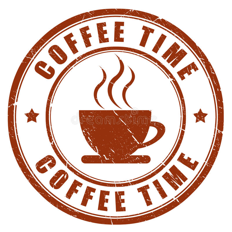 Coffee time stamp stock illustration