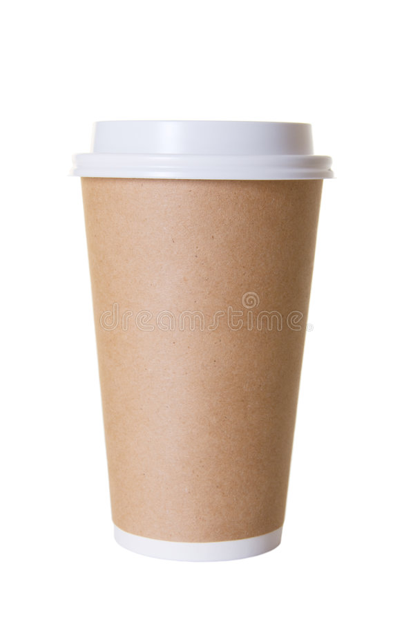 Coffee To Go Cup Isolated royalty free stock photography