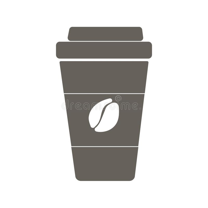 Coffee to go. Flat icon royalty free stock images