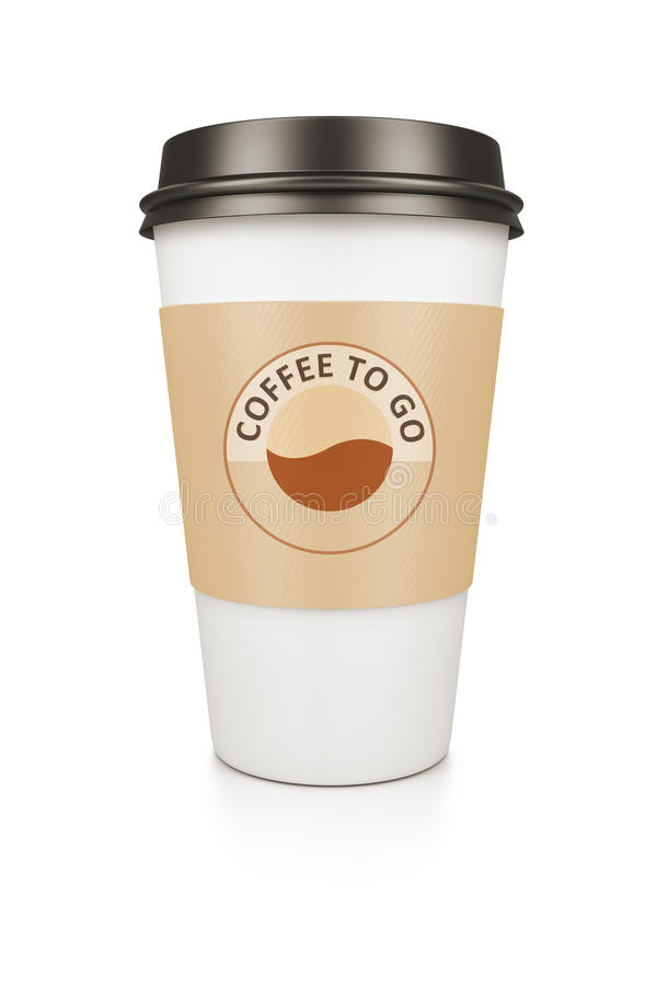 Coffee to go stock images