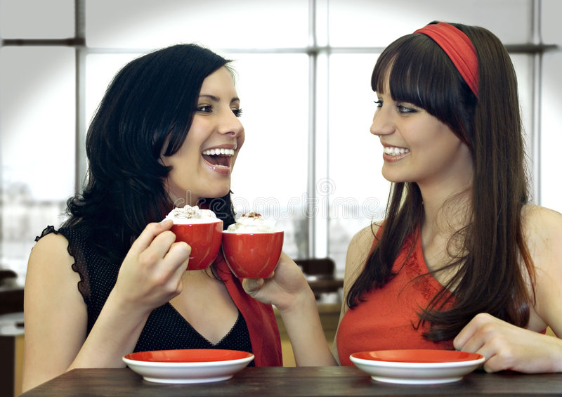 Coffee together 4 stock photo