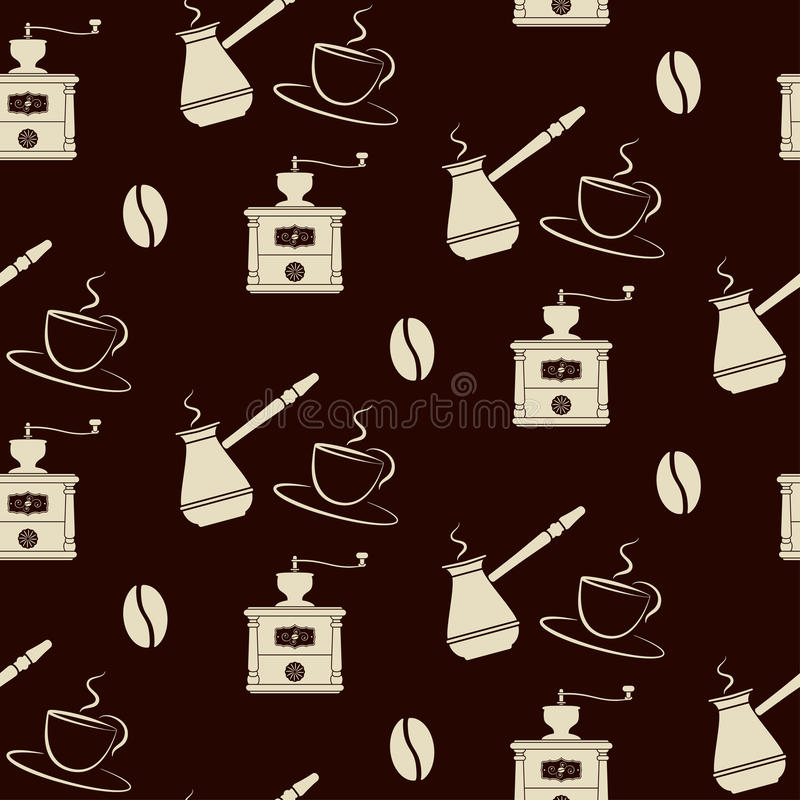 Download Coffee Tools Pattern Royalty Free Stock Image - Image: 28900916