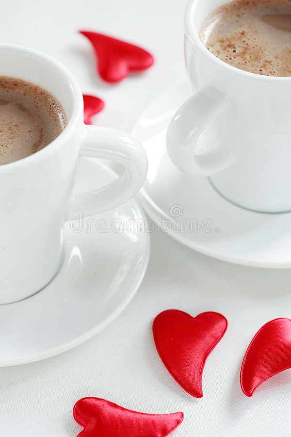 Coffee for two stock photography