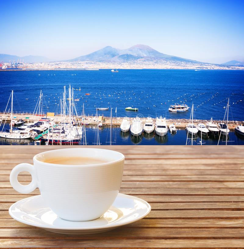 Coffee for two in Naples royalty free stock image