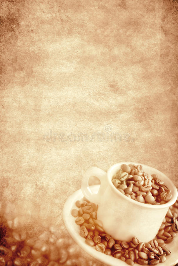 Coffee vintage background royalty free stock photography