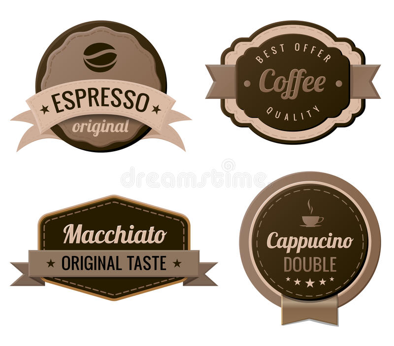 Coffee Vintage Labels vector illustration